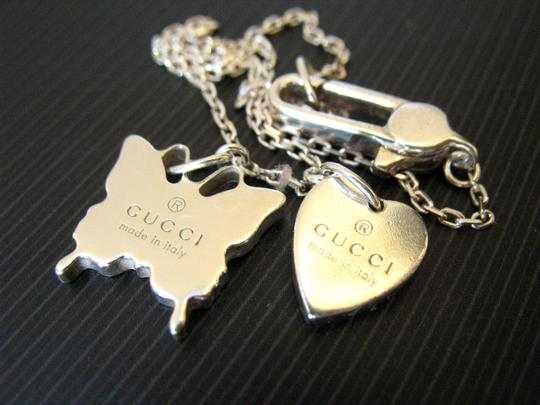 Gucci Trademark Sterling 925 Necklace Heart & Butterfly Image 8