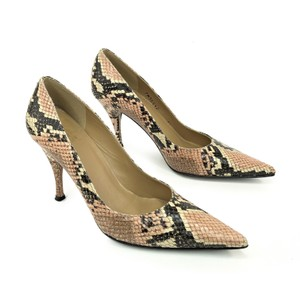 Stuart Weitzman Snake Snakeskin Python Animal Print Sexy Brown Pumps