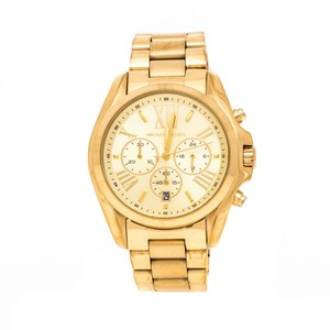 Michael Kors Michael Kors Yellow Gold Plated Stainless Steel Men's Wristwatch 43 mm