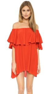 MLM short dress red Off The Shoulder Ruffle on Tradesy