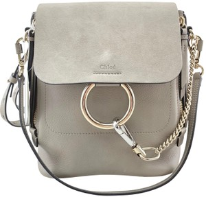 Chloé Large Suede Straps Crossbody Backpack