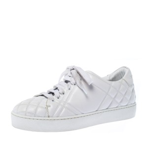 Burberry Quilted Leather White Athletic