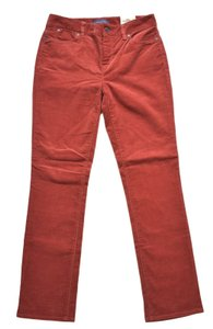Talbots Straight Pants Rust