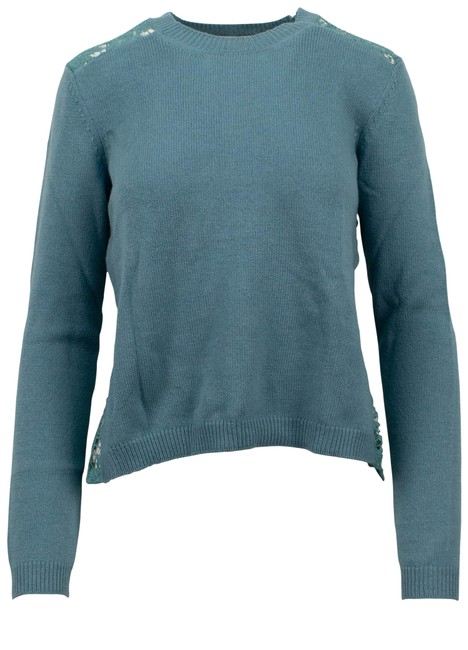 Item - Long Sleeve Cashmere Teal Sweater