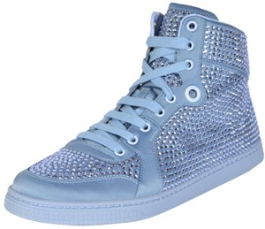 Gucci High Top Sneakers Crystal Mineral Blue Athletic