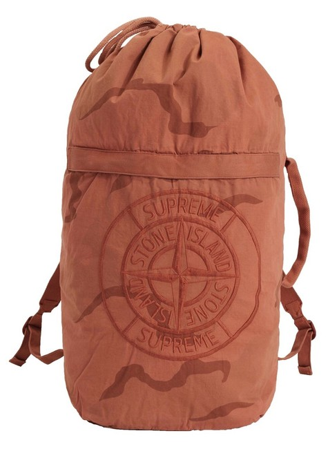 Item - Stone Island Pack Back Limited Edition Camo Coral Brushed Cotton Backpack
