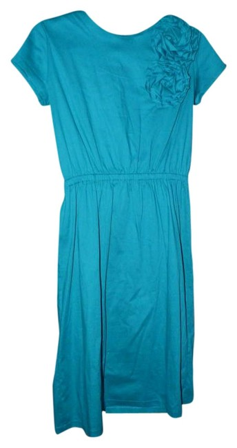 Item - Teal North Knee Length Short Casual Dress Size 10 (M)