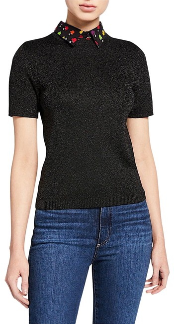 Item - Aster Short-sleeve Collared Black with Tag Sweater