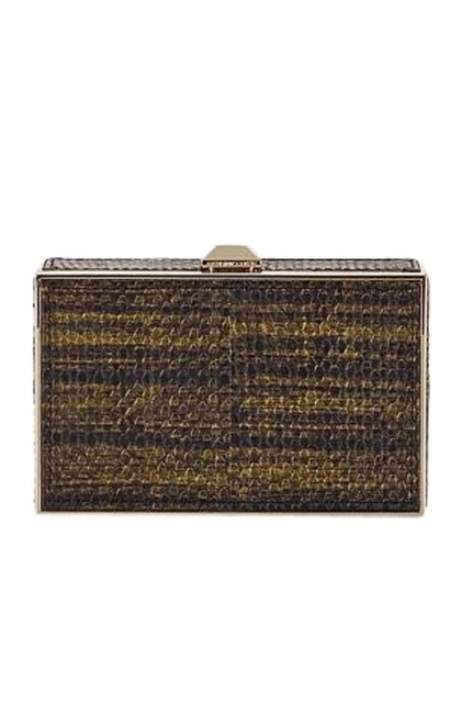 Item - New Odette Minaudiere Gold Leather Clutch