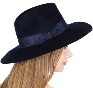 Other New Floppy wool hat with grosgrain band navy