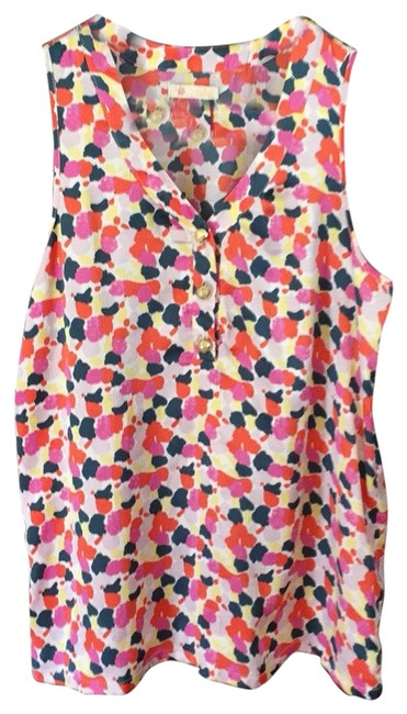 Item - Orange and Pink Multi Blouse Size 6 (S)
