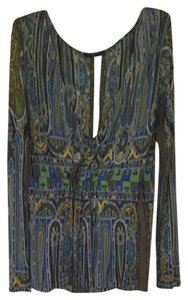 Etro Top Mix Of Green And Blue