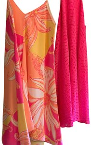 Lilly Pulitzer short dress Hot pink, yellow, orange on Tradesy