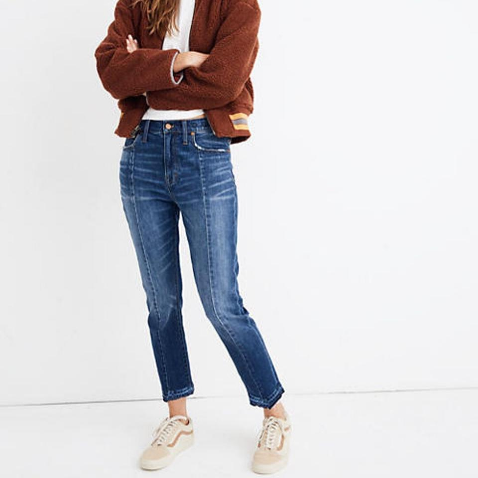 luxury fashion new lower prices online retailer Madewell Blue Medium Wash High-rise Slim Boyjean: Seamed Edition Boyfriend  Cut Jeans Size 24 (0, XS) 19% off retail