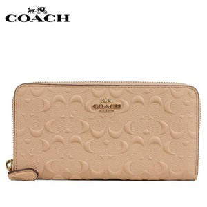 Coach $285 NWT ACCORDION ZIP WALLET IN SIGNATURE LEATHER F67566