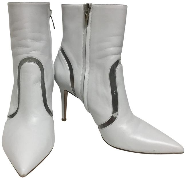 Item - White Ankle with Plexi Inserts Boots/Booties Size EU 39 (Approx. US 9) Regular (M, B)