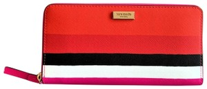 Kate Spade Kate Spade Laurel Way Bonita Stripe Neda Zip Around Wallet