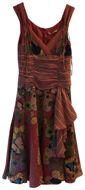 Item - Mostly Dark Rose/ Pink. Unknown Mid-length Short Casual Dress Size 4 (S)