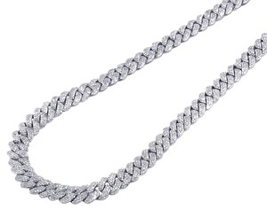 Jewelry Unlimited White Gold Miami Cuban Chain 8MM 12.15 CT 21""