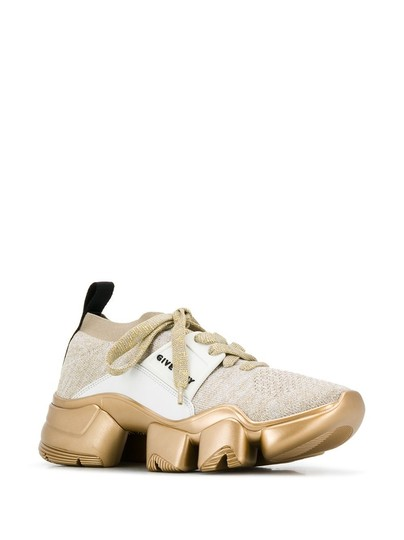 Givenchy Gold and White Gr Jaw Low-top