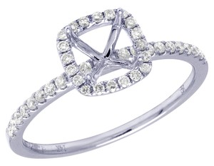 Jewelry Unlimited 14K White Gold 0.25CT Diamond Semi Mount Engagement Ring 8MM