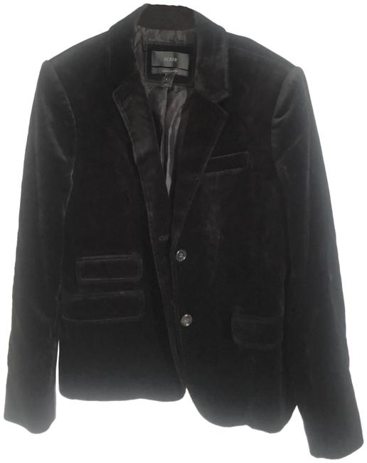 Item - Black Jacket Women's Velvet Cotton Lined Blazer Size 4 (S)