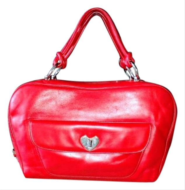 Item - (3-day Sale)gorgeous Heart Red Butter Soft Leather Satchel