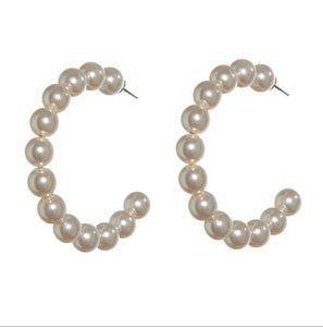 Lele Sadoughi E934 - Lele Sadoughi Stardust Faux Pearl Hoop Earrings - NEW STYLE