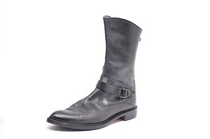 Henry Beguelin Buckle Detail Black Boots