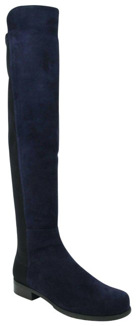 Item - Nice Blue W 5050 Suede Knee Elastic Back 36/5.5 Boots/Booties Size US 5.5 Wide (C, D)