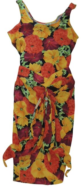Item - Multicolor Ladies 2 Pc Tie Front Skirt + Top Cruisewear By Short Casual Dress Size 10 (M)