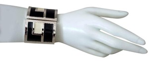 Chico's Black, White and Silver Abstract Bracelet