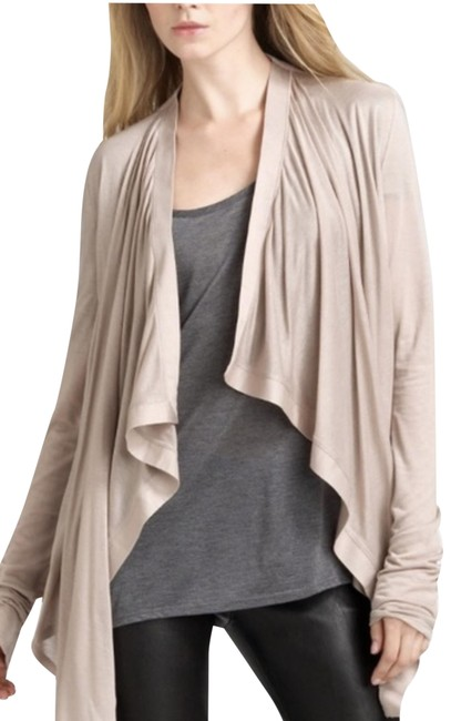 Item - Dusty Pink Draped Front Sweater Cardigan Size 2 (XS)