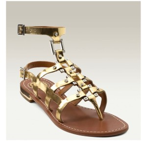 Tory Burch Gold Silver Sandals