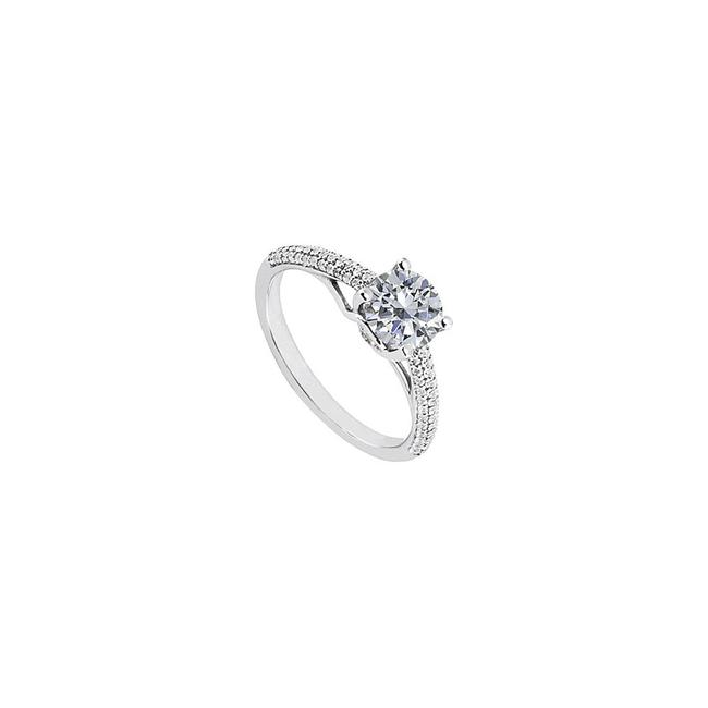 White April Birthstone Solitaire Cubic Zirconia Engagement Ring Tradesy