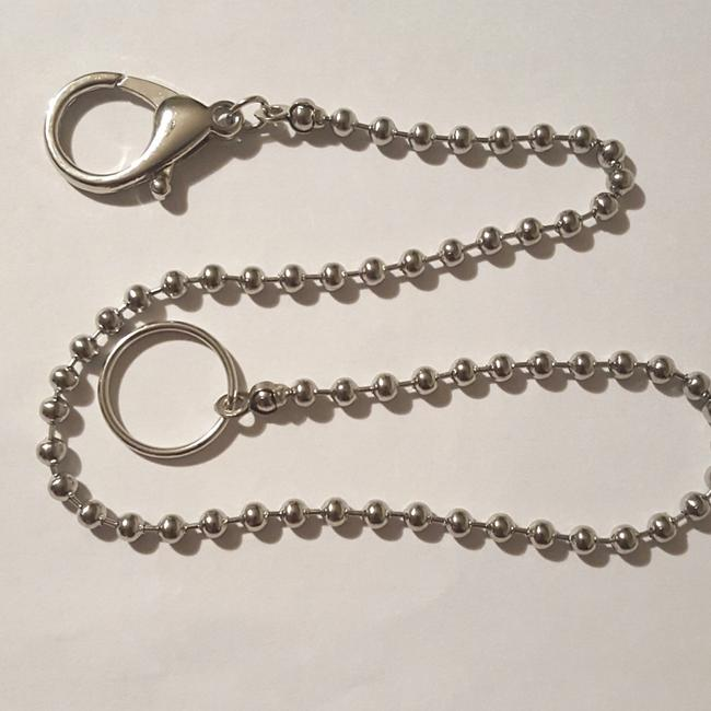"""Silver 17"""" Stainless Ball Bead Chain Wallet Silver 17"""" Stainless Ball Bead Chain Wallet Image 1"""