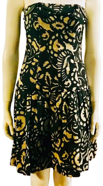 Item - Black White Mid-length Night Out Dress Size 4 (S)