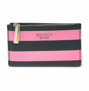 Kate Spade Kate Spade Small Slim Bifold Sylvia Stripe Small Wallet Leather