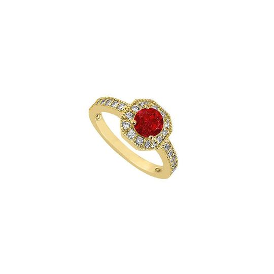 Preload https://img-static.tradesy.com/item/26052950/red-birthstones-rubies-and-cubic-zirconia-halo-engagement-yellow-gold-ring-0-0-540-540.jpg