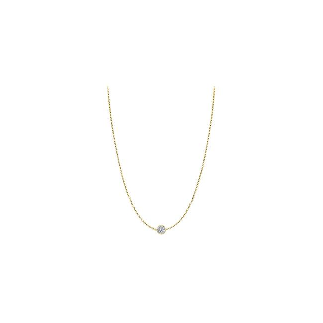Yellow Diamond 14kt Gold 0.25 Ct Total Diamond Necklace Yellow Diamond 14kt Gold 0.25 Ct Total Diamond Necklace Image 1