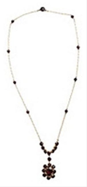 Gold Bohemian Red Garnet Necklace Gold Bohemian Red Garnet Necklace Image 1