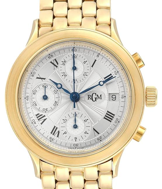 Silver 18k Yellow Gold Chronograph Mens 101 Watch Silver 18k Yellow Gold Chronograph Mens 101 Watch Image 1