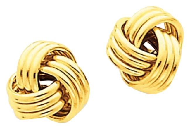 Apples of Gold 14k Yellow Basketweave Knot Earrings Apples of Gold 14k Yellow Basketweave Knot Earrings Image 1