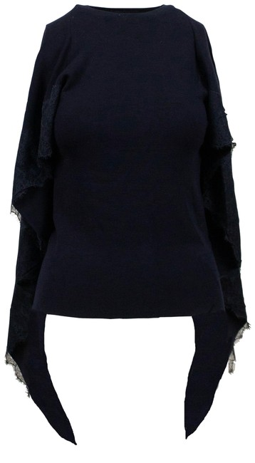 Preload https://img-static.tradesy.com/item/26053898/valentino-knit-with-lace-detail-cape-navy-blue-sweater-0-2-650-650.jpg