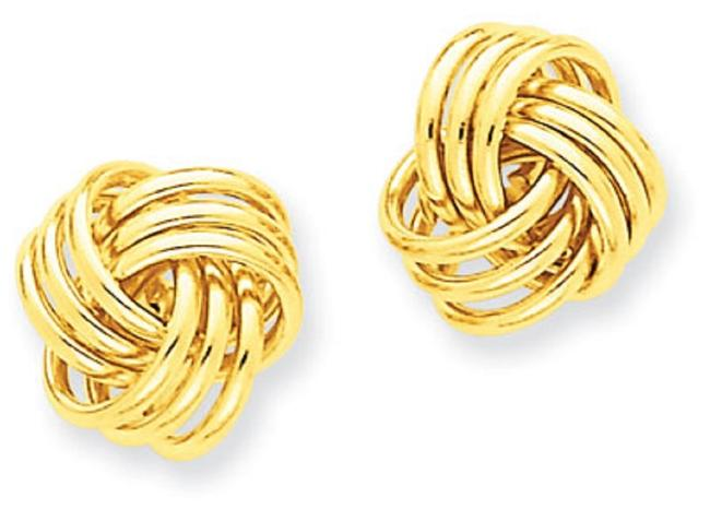 Apples of Gold Basketweave Knot 14k Yellow Earrings Apples of Gold Basketweave Knot 14k Yellow Earrings Image 1