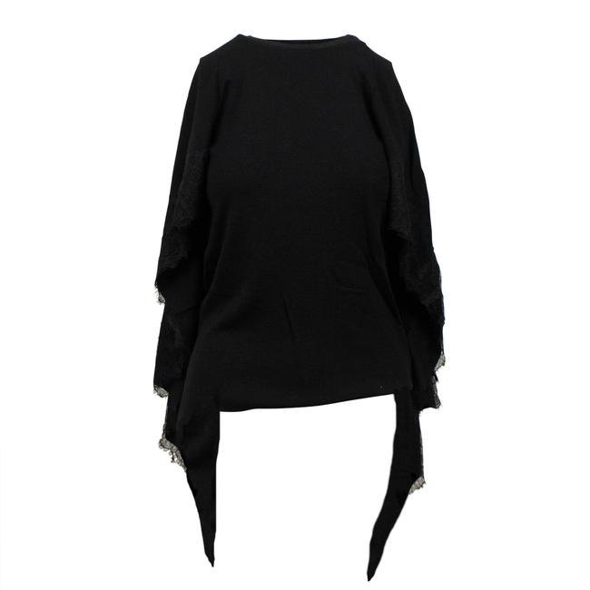 Preload https://img-static.tradesy.com/item/26053920/valentino-knit-with-lace-detail-cape-black-sweater-0-0-650-650.jpg