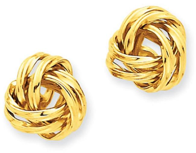 Apples of Gold Love Knot Stud 14k Yellow Earrings Apples of Gold Love Knot Stud 14k Yellow Earrings Image 1