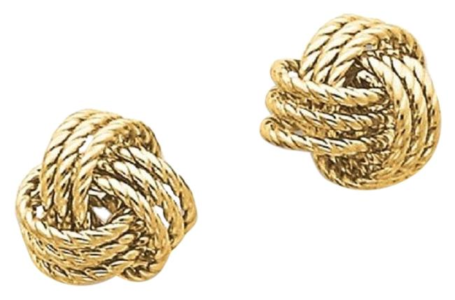 Apples of Gold Twisted Love Knot 14k Yellow Earrings Apples of Gold Twisted Love Knot 14k Yellow Earrings Image 1