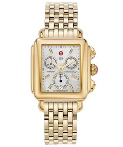 Michele Deco Stainless Steel Mother Of Pearl Diamond Dial MWW06P000016