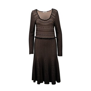 Valentino Knit Wool Viscose Nylon Ruffle Dress